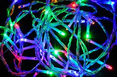 Modern LED Christmas lights. Royalty Free Stock Image