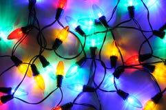 Modern LED Christmas lights. Scattered modern LED Christmas lights stock photography
