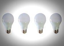 Modern LED light bulb (lamp) Isolated on white, ECO energy Stock Image