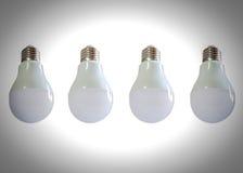Modern LED light bulb (lamp) Isolated on white, ECO energy Royalty Free Stock Images