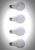 Modern LED light bulb (lamp) Isolated on white, ECO energy Stock Images
