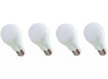 Modern LED light bulb (lamp) Isolated on white, ECO energy Royalty Free Stock Photos