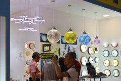 Modern  LED lighting shop,In  lighting Commercial exhibition,Canton lighting fair ,China Stock Photography