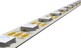 Modern LED strip 3d illustration. Stock Photos