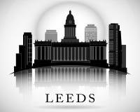 Modern Leeds City Skyline Design. England Stock Photos