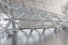 Modern leeg atrium of zaalbinnenland Stock Afbeelding