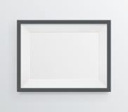 Modern leeg kader op grayscaleachtergrond Stock Afbeelding