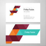 Modern letter F Business card template Royalty Free Stock Photos