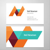 Modern letter N Business card template Royalty Free Stock Image