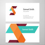 Modern letter S Business card template stock images