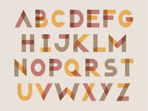Modern letter set Stock Images