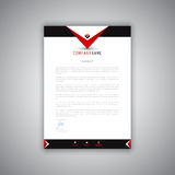 Modern letterhead design. Business letterhead with a modern design Royalty Free Stock Photos