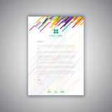 Modern letterhead design. Business stationery layout modern letterhead design Stock Image