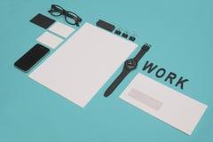 Modern letterhead design mockup Royalty Free Stock Images