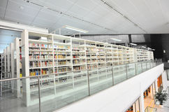 Modern library. Books on shelf at library,shenzhen city,china Stock Images