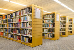 Modern library. Reference section of a modern library Royalty Free Stock Photography