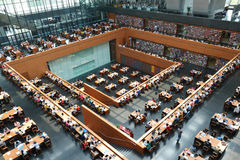 Modern library space Stock Photography