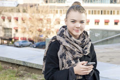 Free Modern Lifestyle Concepts: Trendy Teenager Girl Using Cellphone Royalty Free Stock Photo - 56381495
