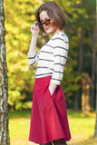 Modern Lifestyle and fashion Concepts: Positive and Smiling Cauc Royalty Free Stock Photography