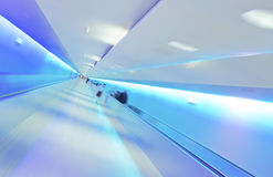 Modern Lifestyle - Tunnel. Modern Lifestyle - Fast Moving on Airport Tunnel royalty free stock photos