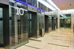 Modern lift lobby Royalty Free Stock Photo