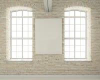 Modern light bright interiors 3D rendering image royalty free illustration