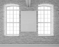Modern light bright interiors 3D rendering image vector illustration