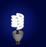 Modern light bulb, lamp - CFL Royalty Free Stock Images
