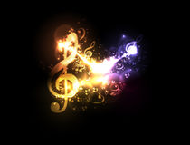 Modern light conceptual music notes design Stock Photo