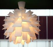 Modern Light Fixture. A modern lamp made out of multiple plastic diffusers Stock Photography