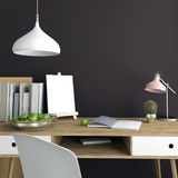 Modern light interior, a place for study, consisting of working Stock Images