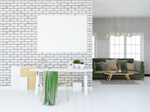 Modern light interior, a place for study, consisting of working Stock Photos