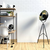 Modern light interior in the style loft, a place for study, cons Stock Photos