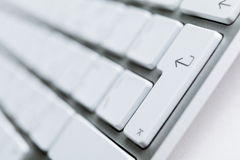 Modern light keyboard Royalty Free Stock Images