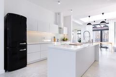 Modern and light kitchen Stock Image