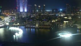 Modern light music dubai fountain 4k time lapse stock footage