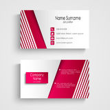 Modern light pink white business card template Royalty Free Stock Photos