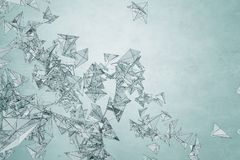 Modern light polygonal wallpaper. Art, creativity concept. 3D Rendering Royalty Free Stock Image