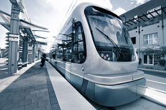Modern light rail transit system. Operating in Phoenix,AZ,USA Stock Photo