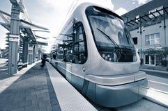 Modern light rail transit system Stock Photo