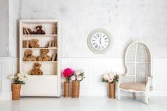 Modern light room interior Royalty Free Stock Photos