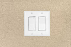 Modern light switch Royalty Free Stock Images