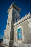 Modern lighthouse at the most southern point of greek mainland Royalty Free Stock Photography