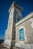 Modern lighthouse at the most southern point of greek mainland Royalty Free Stock Image