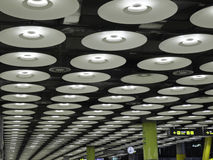 Modern lighting. Corridor at Barajas T4 airport Stock Image