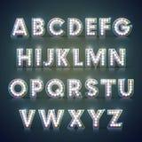 Modern lighting alphabet set Stock Photography