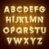 Modern lighting alphabet set Royalty Free Stock Photography