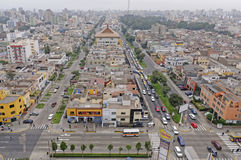 Modern lima. Image taken from the el dorado building in san isidro, lima, peru. Many areas of the city can be seen from here including the financial sector, san Stock Photos