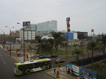 Modern Lima, Peru. Modern view of the city, on July 26, 2015 in Lima, Peru royalty free stock photos
