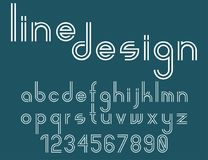 Modern line alphabet. Hipster abstract vector font Stock Images